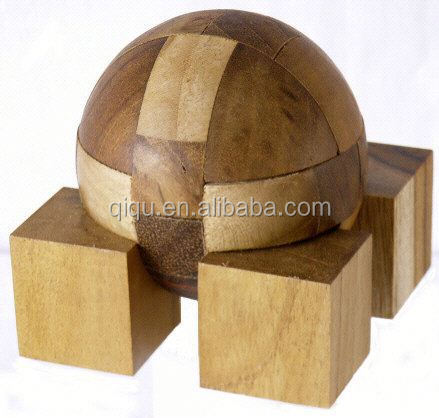 3d wooden puzzle for children's intelligence