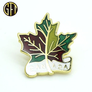 Hotsale Canada Flag Maple Leaf Custom Metal Lapel Pin for souvenir