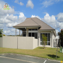Various style of prefab house steel structure villa with garage