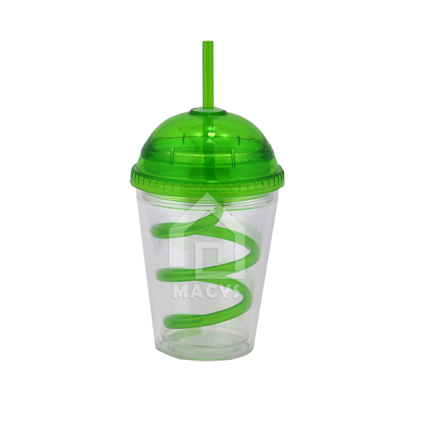 350ml dome lid plastic beverage drink mug