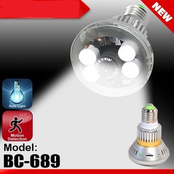Bc-689 Four Real Led Lights Bulb Dvr Camera