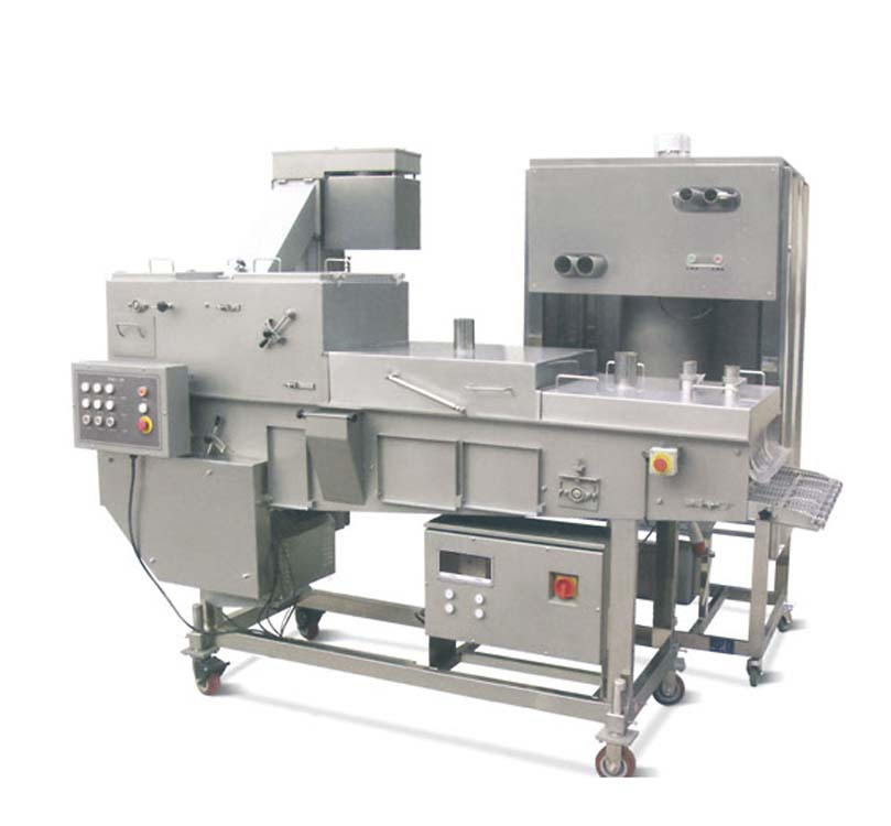 Kfc Meat Patty Chicken Nuggets Frying Production Line