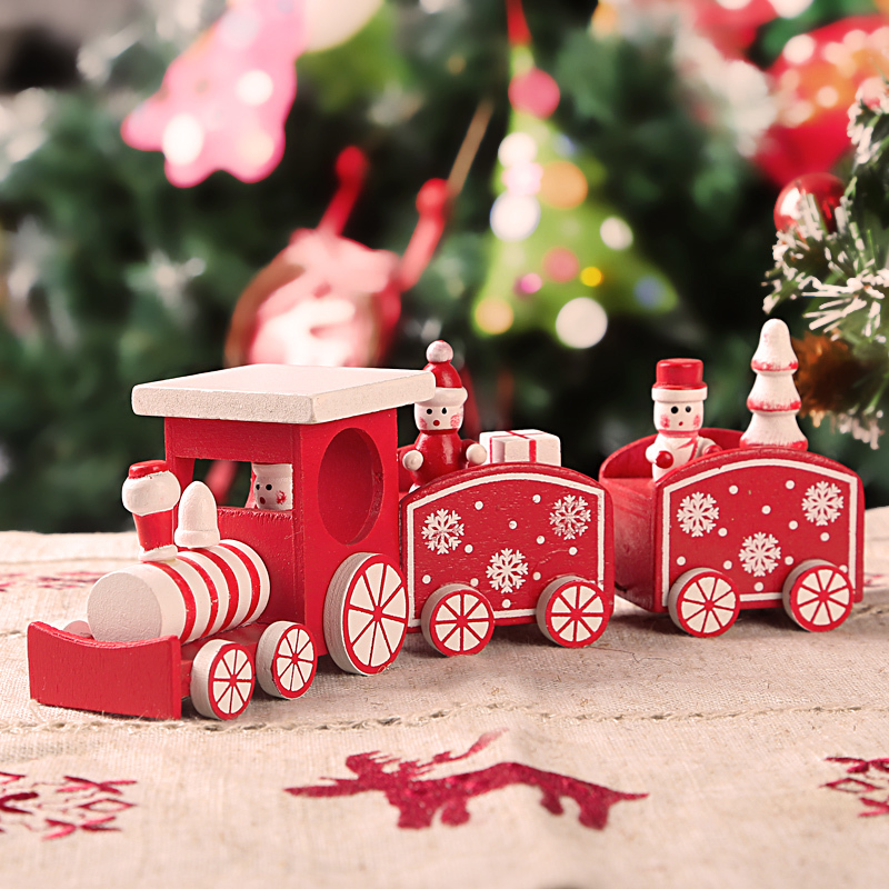 wooden christmas train table decoration christmas train decor wooden decoration