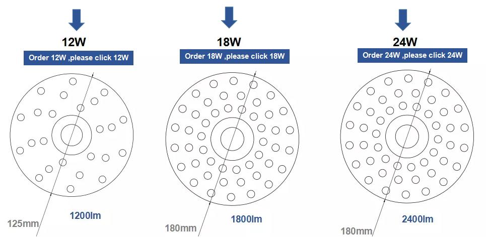3 Years Warranty daylight warm white 12W 18W 20W 24W 5630 5730 18W ceiling light led module
