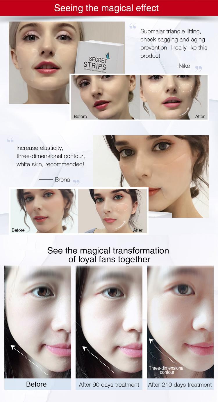 Aqua Microcristallina Gel stringere la cura della pelle della corea v linea viso maschera oem maschera per il viso cura della pelle