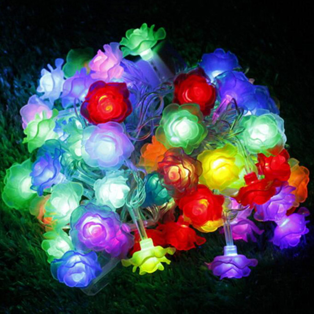 led decorative flower lights led decorative flower lights suppliers and manufacturers at alibabacom - Flower Christmas Lights
