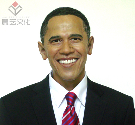 Lifesize Human Wax Sculpture Obama Celebrity Silicone Wax Figure for Museum