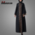 Muslim Women Gender Mona Front Open Embroidered Jilbab Oversized Jalabiya Long Gown Dress Islamic Clothing