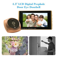 Best Selling Smart Digital Door Peephole Viewer with 4.3 inch HD TFT Indoor Screen Monitor Ultra Wide Angle 160 Degree Doorbell