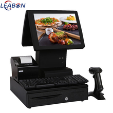 "Factory Bezel-free dual screen 15"" touch POS computer , POS all in one"