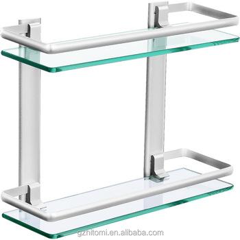 Mensole Di Vetro Per Bagno.Alluminio Bagno Mensola Di Vetro Temperato Buy Alluminio