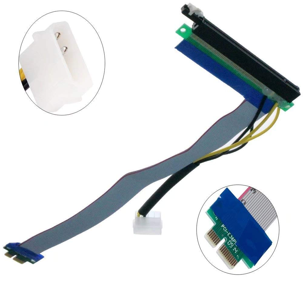 MagiDeal PCIE Micro Express 1X to 1X F//M Riser Card Flexible Extender Cable
