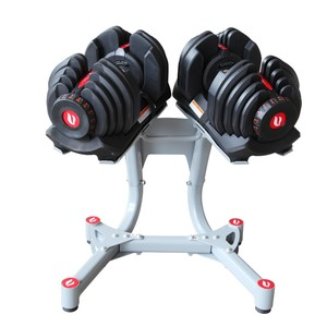 Home Gym Exercise Workout 40kg Pair Adjustable Dumbbells Set with Stand Rack Holder Storage Organizer