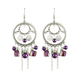 YWMT 2017 Sterling Silver Jewelry Nature Stone Dangle Hole Beads Round Ethnic Boho Anti-Allergy Earring Women Pierce