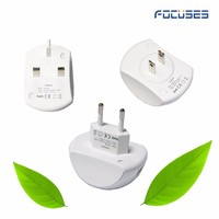 Lovely Smart Universal Ac to dc 5V/2.0A US/EU/UK plug 2 USB ports Wall / travel adapter for iPhone / Samsung /Xiaomi charger