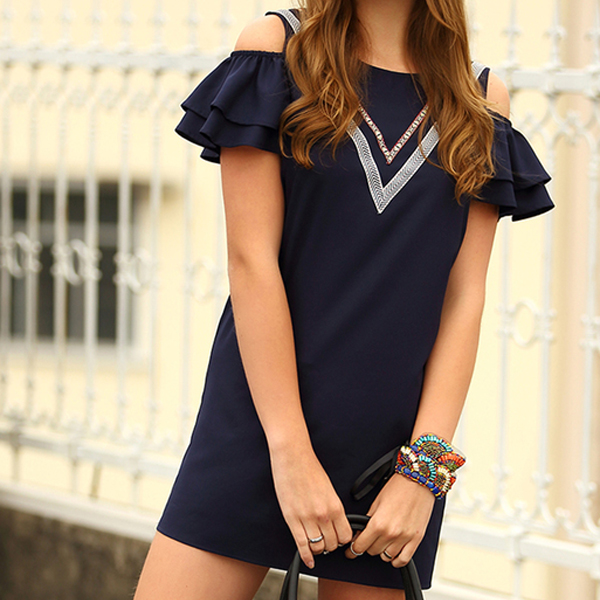 Trade Assurance OEM High Quality Ladies Summer Cheap Dresses Apparel