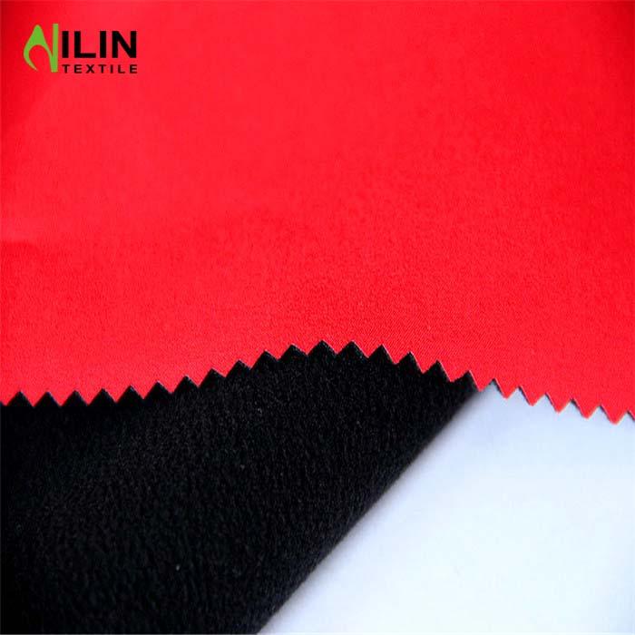 Softshell fabric waterproof for jacket 4 way stretch fabric with tpu bonded polar fleece