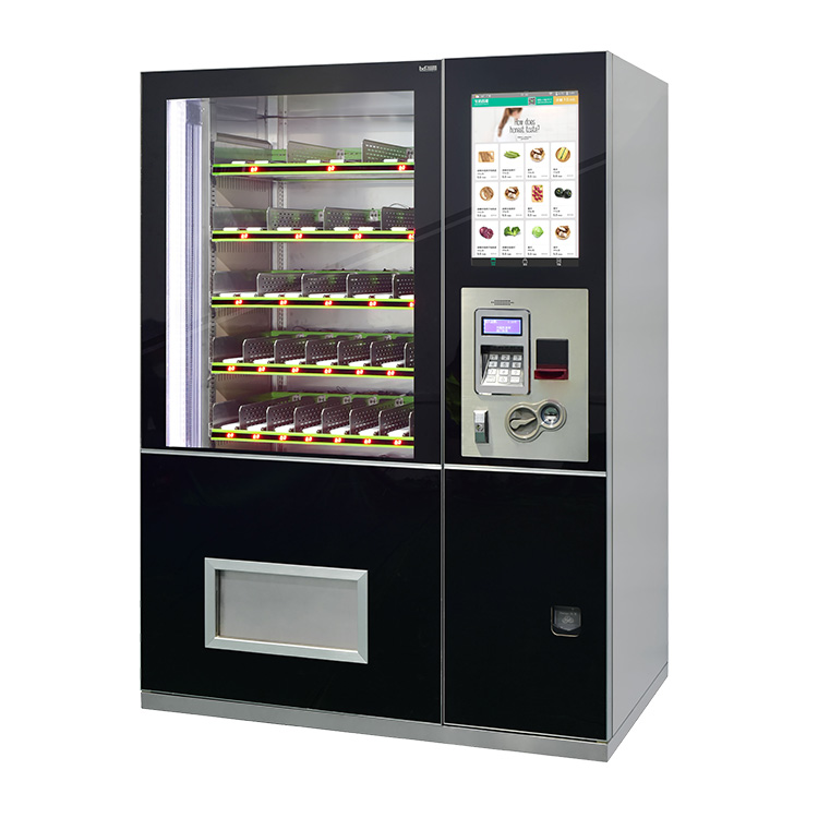 Smart electronic combo touch screen vending machine manufacturer/coffee vending machine with conveyor belt vending business