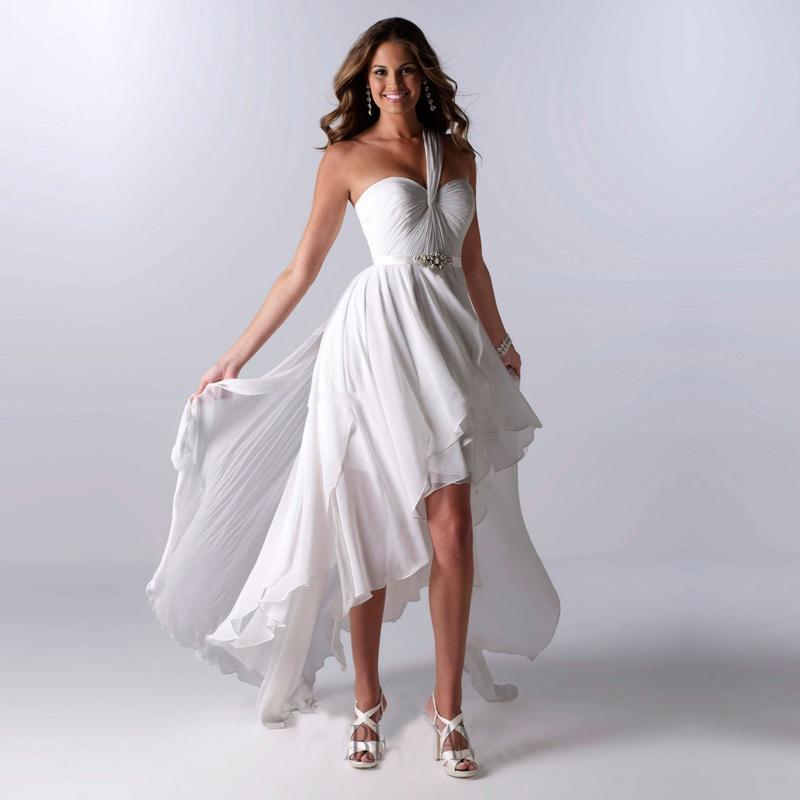 2016 New Arrival Cheap Wedding Dress White Chiffon One