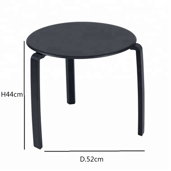 Metal Stackable Small Round Side Table