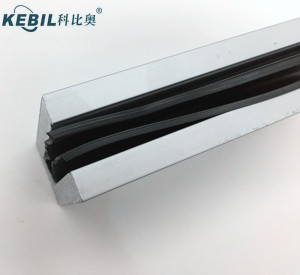 High Quality Balcony Aluminum U Channel Glass Clamp Railing / Aluminium U Channel Profile for Glass Railing