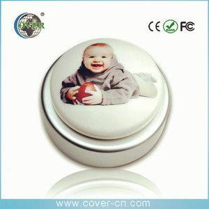 2017 Funny sound button push button sound box with kids laugh
