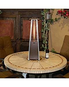 Get Quotations · Patio Heater Portable Tabletop With Quartz Glass Fire Tube  And Thermocoupler, Hammered Bronze Finish