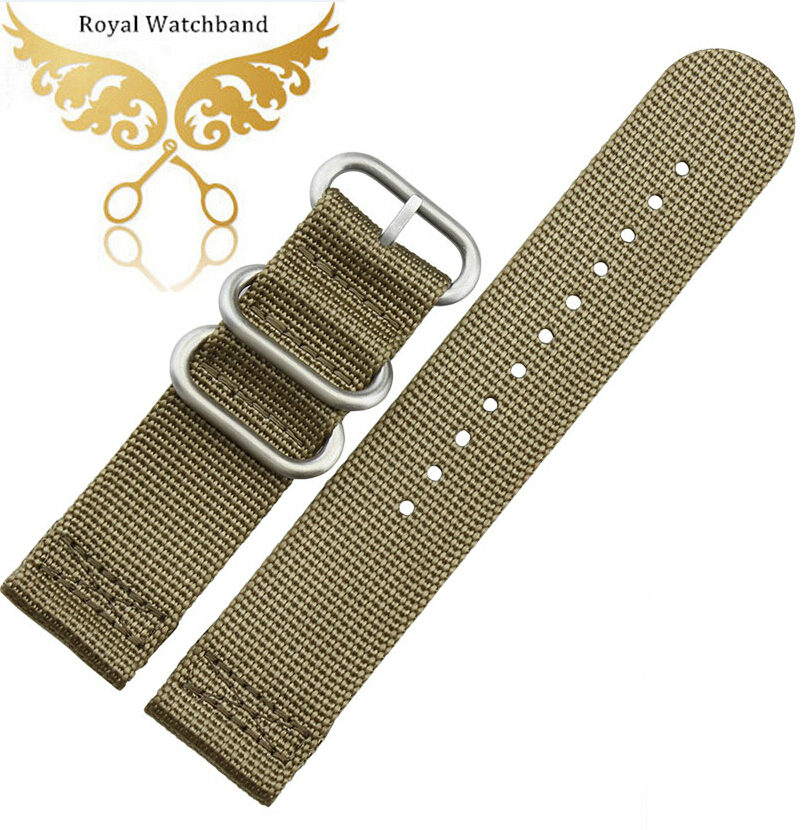 150ef65f6a8 Get Quotations · Watch band 22mm Nylon Watch Strap Band Bracelets Sports  New Pattern wristband Parts ZULU replacement