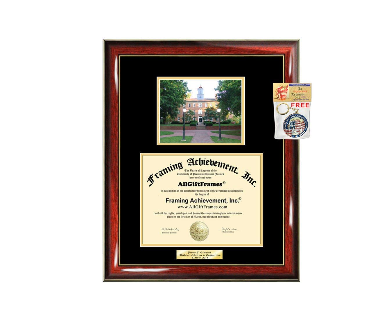 Diploma Frame Ohio University Graduation Gift Idea Engraved Picture Frames Engraving Degree Cheap Graduate Bachelor Masters MBA PHD Doctorate School