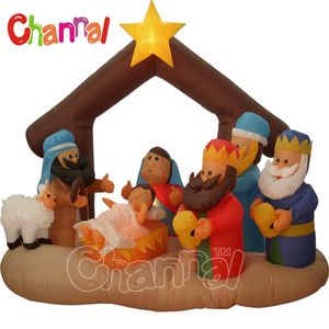 christmas nativity set inflatable nativity scene Christmas decoration light