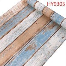 Современные 3D деревянные обои нового дизайна, самоклеящаяся пленка, Настенная Наклейка для украшения спальни и дома(Китай)