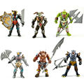 New Very Cool Action Toy Figures 6 pcs Orcs with Weapon Ancient Military Solider Model Set