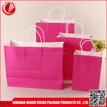 Custom printed full colors paper bag materials supplier, free sample die cut paper storage bag