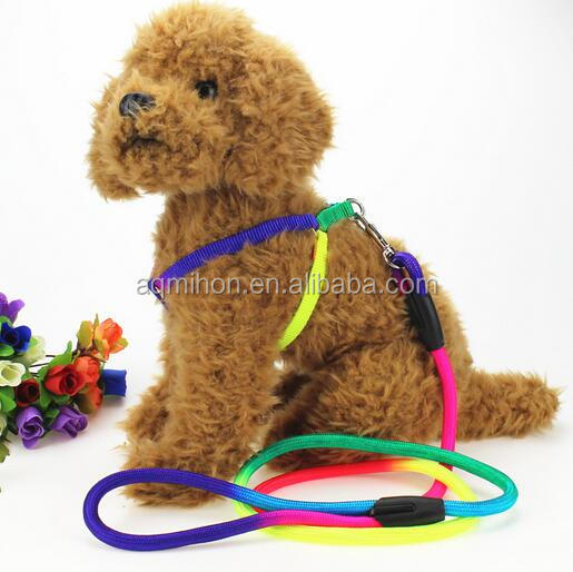 pet products/ round nylon rope dog harness&leash