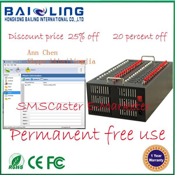Bailing Bulk Sms Modem Pool 32 Port Gsm Modem With Q2403a/q2406b/q24plus  Low Price Multi Sim Modem - Buy 32 Port Gsm Modem,32 Port Modem Pool,Low