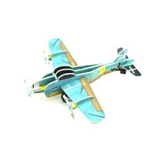 Promotional mini air plane 3d puzzle model Intelligence Toys 3d airplane puzzle DIY Assemble Paper Puzzles For Children