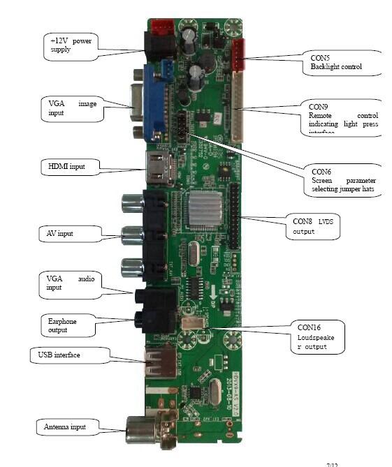 3962981ada5 tv controller board tsumv59xu z1 HDMI USB AV  TV motherboard for tft lcd  panel