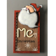 Custom vintage cheap led Santa wood wall decoration plaque