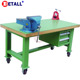 workshop work bench with tool cabinet