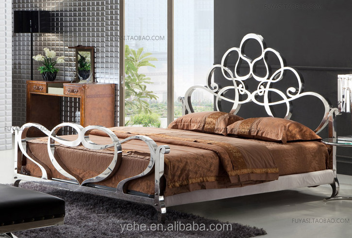 stainless steel venus bed super king size bed royal