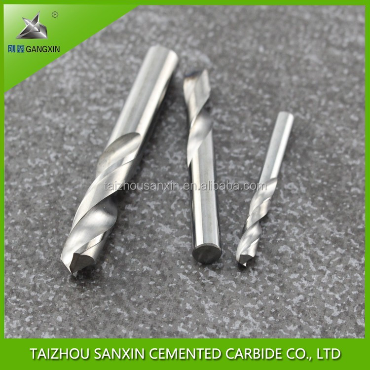 Wholesale price factory tungsten carbide twist drill bits for metal HRC45