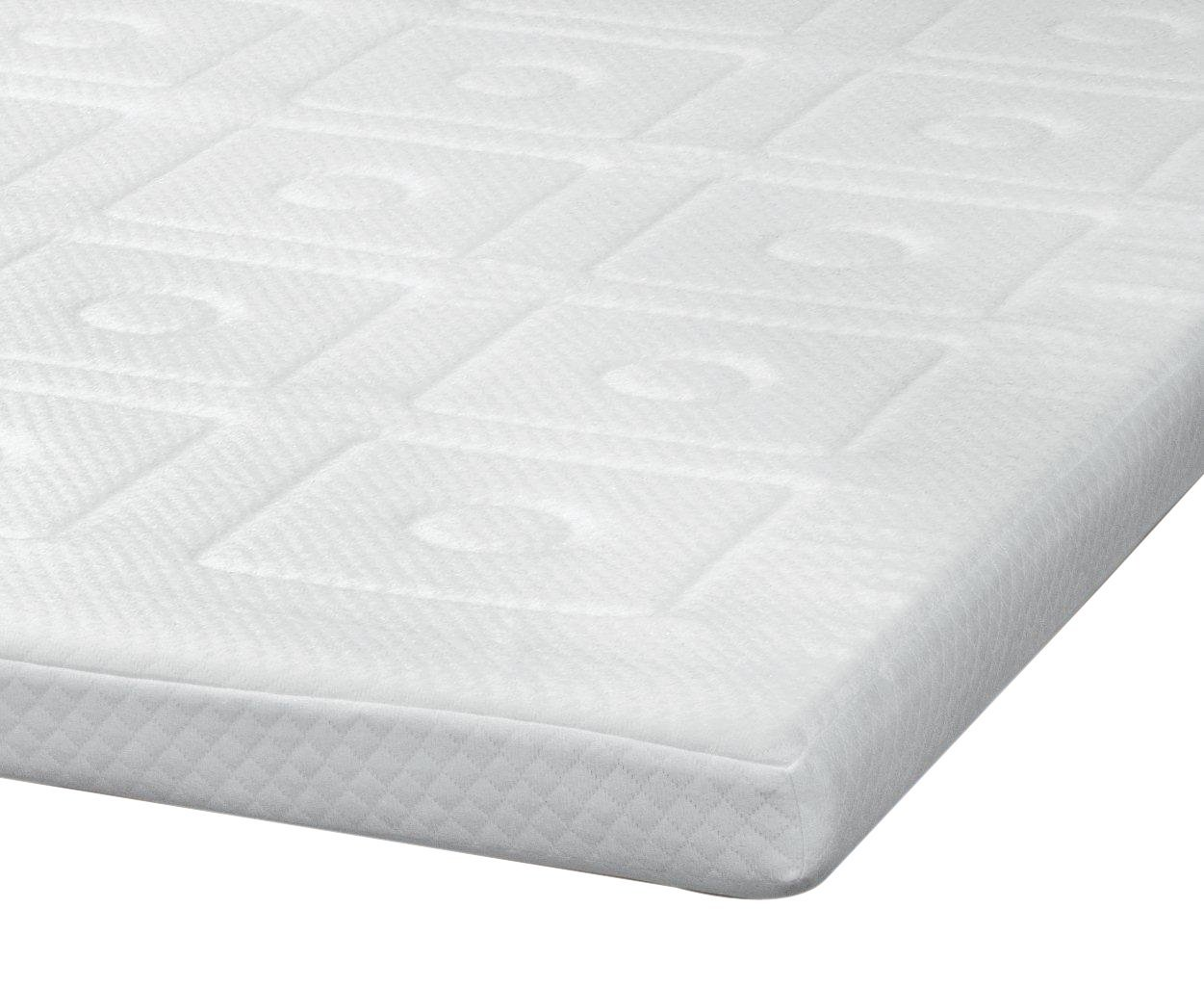 SensorPEDIC Luxury Extraordinaire 3-Inch Quilted Memory Foam Mattress Topper, Twin Size, White