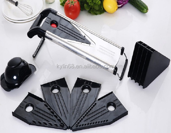 New Multifunction Vegetable Stainless Steel V Shape Blade Slicer Mandoline Slicer