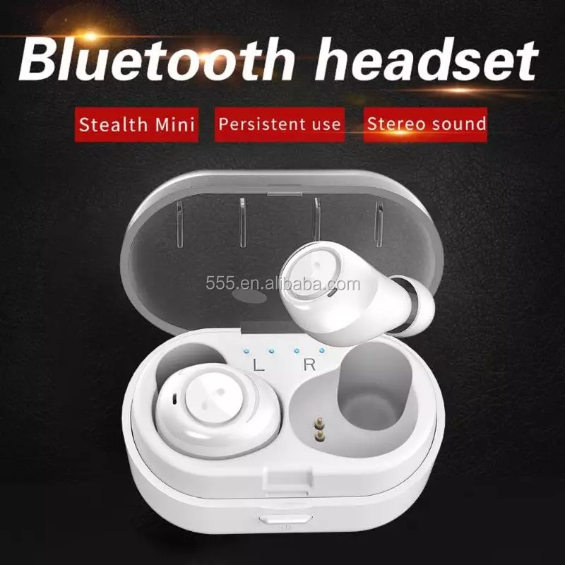 BSCI factory new arrival mobile accessories good sound TWS in -ear earbuds with charging case