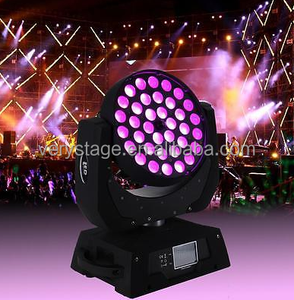 Guangzhou Dmx 4-in-1 Rgbw 36x10 Zoom Wash 36x10w Led Moving Head