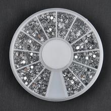 1700 PCS 1.5 mm 3D Diy Nail Rhinestones Glitter gemas de diamante pontas das unhas Nail Art beleza decoração roda NA997