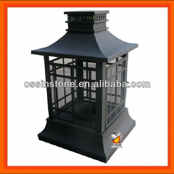 Large Pagoda Fire Pit Outdoor Patio Garden Fireplace Wood Burning