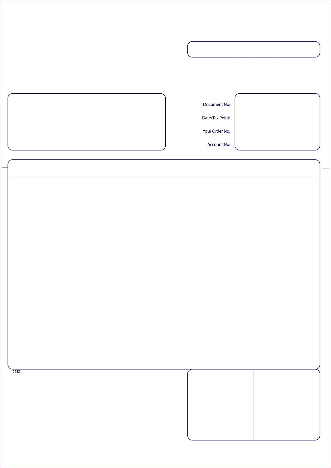 Sage 210 x 297 mm Compatible Business Forms, Invoice Forms, 2 Part, Pack of 500