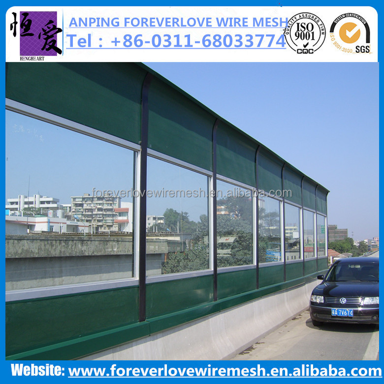 (Anping factory, China) of polycarbonate/glass/acrylic transparent sound/noise barrier
