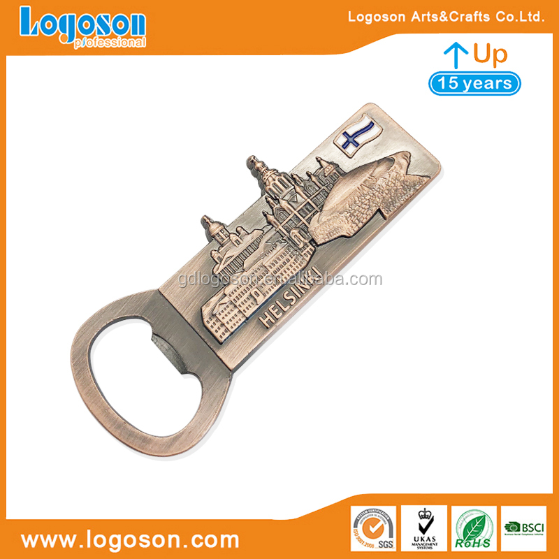 China Finland Deer Elk Shape Souvenir Gift Metal Magnetic Bottle Opener Finland Souvenirs